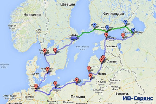 Автопробег «Голубой коридор: Ганза 2013» стартовал в Петербурге