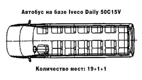 Туристический автобус (19+1+1)