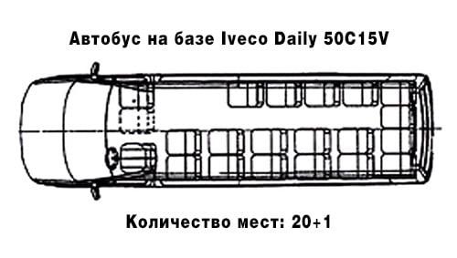 Туристический автобус (20+1)