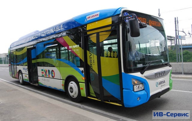 Iveco Bus предоставила для Expo 2015 автобусы, способные работать на биометане